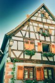 Traditional timber frame house — Stock Photo