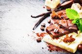 Assortment of fine chocolates and pralines — Stock Photo