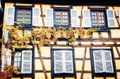 Details of traditional timber frame house — Stock Photo