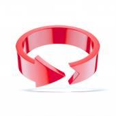 赤い丸い矢印 — ストック写真