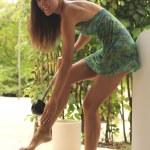 ������, ������: Green dress