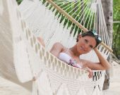 Katya in the hammock — Stock Photo