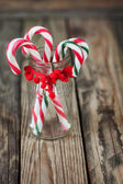 Christmas sweet candy in the glass on the background, vertical — ストック写真