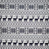 Naadloze winter trui gebreide patroon met herten en snowflak — Stockfoto