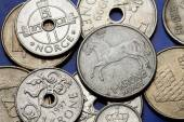 One krone Norway Coins — Stockfoto