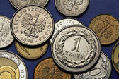 Coins of Poland — Stock Photo