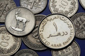 Coins of the United Arab Emirates — Stock Photo