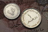 United Arab Emirates Coins — Stock Photo