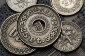 Coins of Egypt — Stock Photo