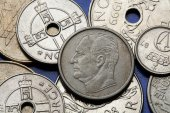 Coins of Norway — Stock Photo