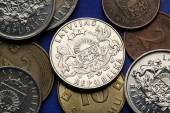 Coins of Latvia — Stock Photo