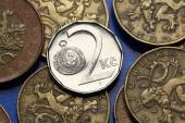 Coins of Czech Republic — Stock Photo