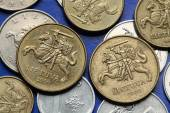 Coins of Lithuania — Stock Photo