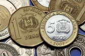 Coins of the Dominican Republic — Stock Photo