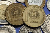 Coins of Dominican Republic — Stock Photo
