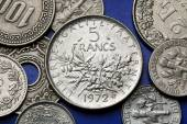 Coins of France — Stock Photo