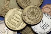 Coins of Israel — Stock Photo