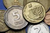 Monedas de israel — Foto de Stock