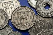 Coins of Mauritius — Stock Photo