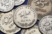 Coins of Croatia — Stock Photo