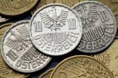 Coins of Austria — Stock Photo