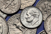 Coins of USA — Stock Photo