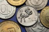 Coins of Slovenia — Stock Photo