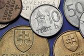 Coins of Slovakia — Stock Photo