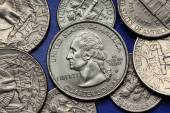 Coins of USA. George Washington — Stock Photo