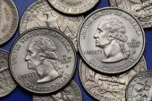 Coins of USA. George Washington — Stock Photo