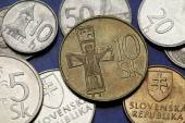 Coins of Slovakia — Stock Photo