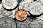 Coins of Cuba. Cuban convertible peso — Stock Photo