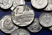 Coins of Cuba. Cuban convertible peso — Stock Photo