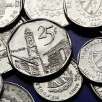 Coins of Cuba. Cuban convertible peso — Stock Photo #59358771
