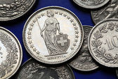 Coins of Switzerland — Stock Photo