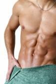 Nasse muskulöse Mann — Stockfoto