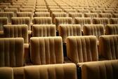 Empty chairs at cinema — Stockfoto