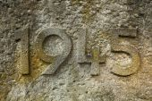 Year 1945 carved in the stone — Stock Photo