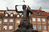 Statue of the Mermaid of Warsaw — Stock Photo