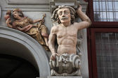 Atlas supported a Renaissance house — Stock Photo