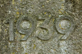 Year 1939 carved in the stone. — Stock Photo