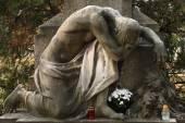 Mourning nude man. — Stock Photo