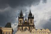 Tyn Church in Old Town Square — Stock Photo