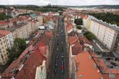 Vysehrad fortress from the Nusle Bridge — Stock Photo