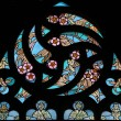 Art Nouveau floral pattern. Stained glass window. — Stock Photo #63398861