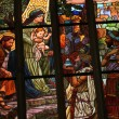 Art Nouveau stained glass window. — Stock Photo #63399047