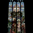 Art Nouveau stained glass window — Stock Photo #63399099
