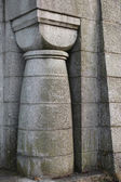 Romanesque column on mausoleum — Stock Photo