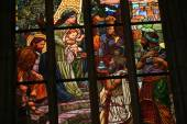 Art Nouveau stained glass window. — Stock Photo