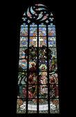 Finestra di vetro macchiata di Nouveau di arte — Foto Stock